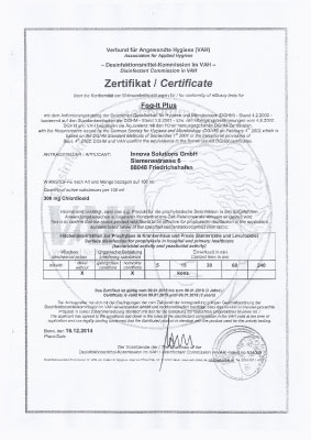 VAH Zertifikat