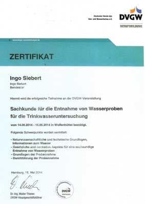 DVGW Trinkwasser Zertifikat