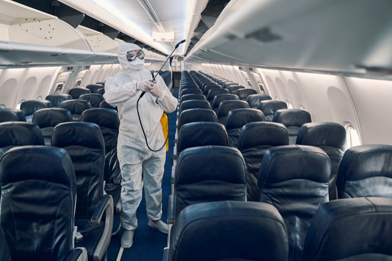 Desinfektion von Flugzeugen - MGN-Pura